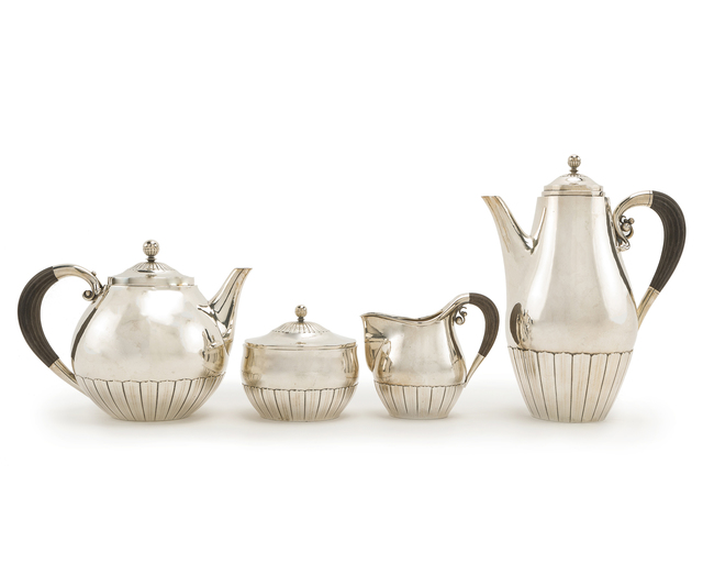 'A Johan Rohde for Georg Jensen Cosmos sterling silver tea set', John Moran Auctioneers