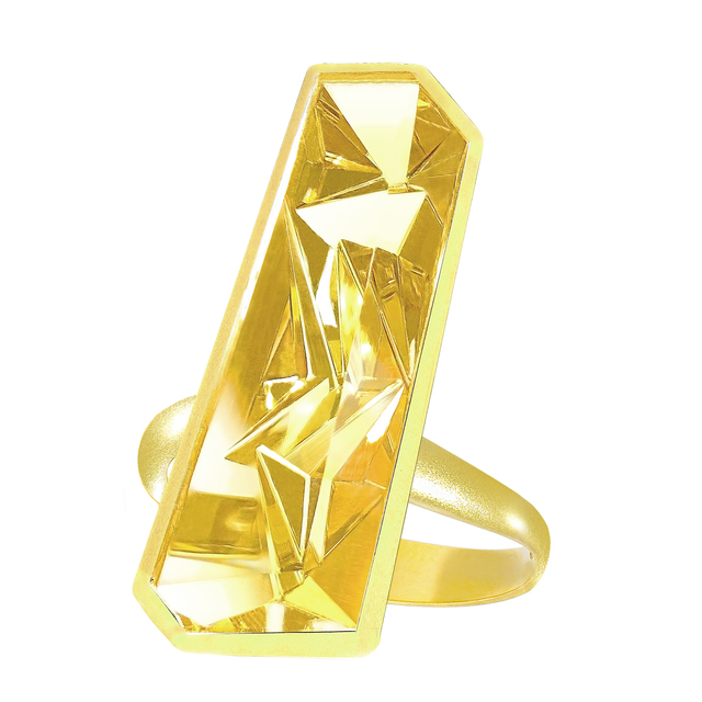 , 'Golden Beryl Vertical Picasso Ring,' 2017, Szor Collections