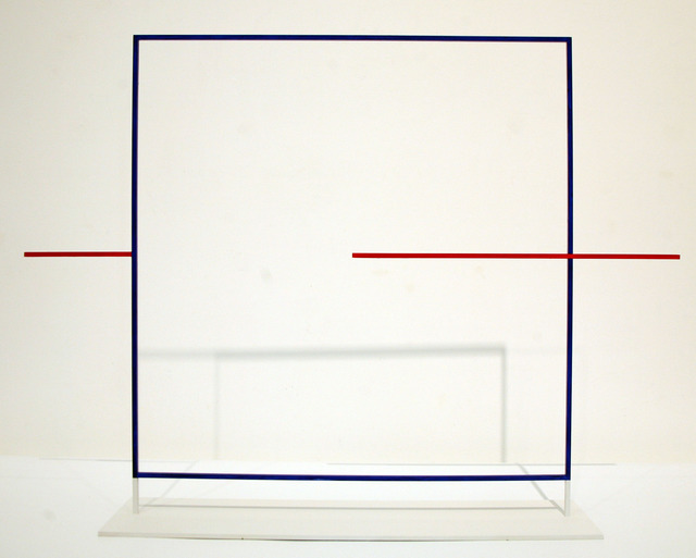 , 'Pierced Blue Square,' 1999, David Richard Gallery