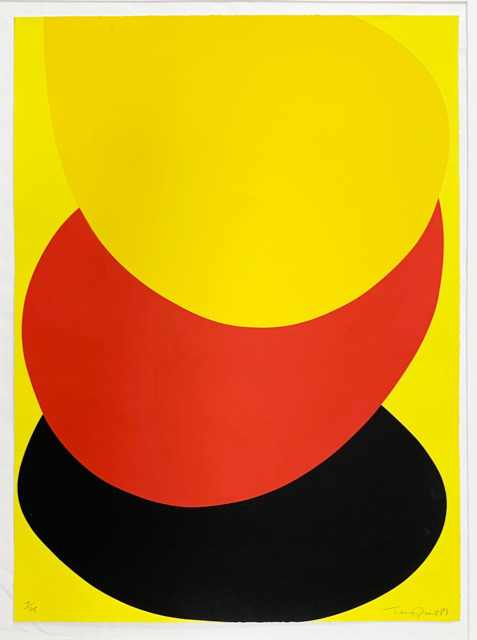 , 'Suspended Red, Yellow and Black,' 1987, Dellasposa