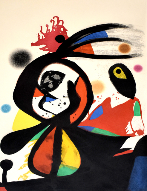 Joan Miró, ' The Red Egret | L'aigrette rouge', 1976, Gilden's Art Gallery