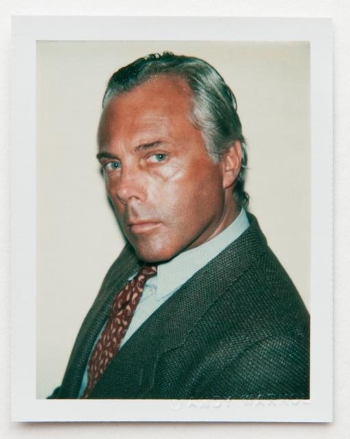 Andy Warhol, 'Andy Warhol, Polaroid Portrait of Giorgio Armani, 1981', 1981, Hedges Projects