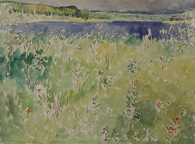 , 'Spruce River Reservoir with Lilies,' 1986, Wallace Galleries