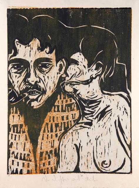 , 'Maler und Modell (Der Dichter und Weib) (Painter and model [poet and woman]),' 1907, Moeller Fine Art