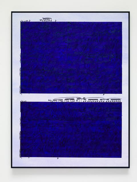 , 'Ultramarine Rhythms 1,' 2019, Victoria Miro