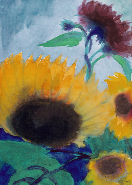 Emil Nolde, 'Sonnenblumen (Sunflowers)', 1930, Drawing, Collage or other Work on Paper, Watercolour on sturdy Japan paper, Galerie Thomas