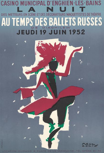 Paul Colin, 'La Nuit au Temps des Ballets Russes.', 1952, Rennert's Gallery