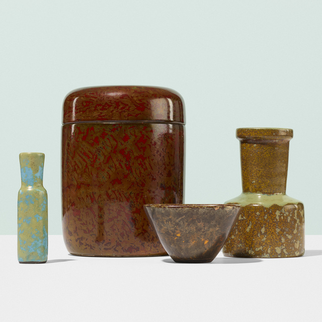 Hans Hedberg, 'Collection of four vessels', c. 1960, Design/Decorative Art, Glazed stoneware, Rago/Wright