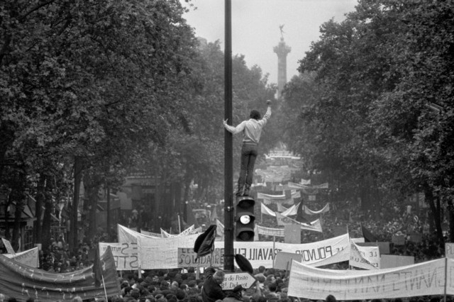 , 'Worker and student demonstration from Republique to Denfert-Rochereau.,' 1968, Magnum Photos