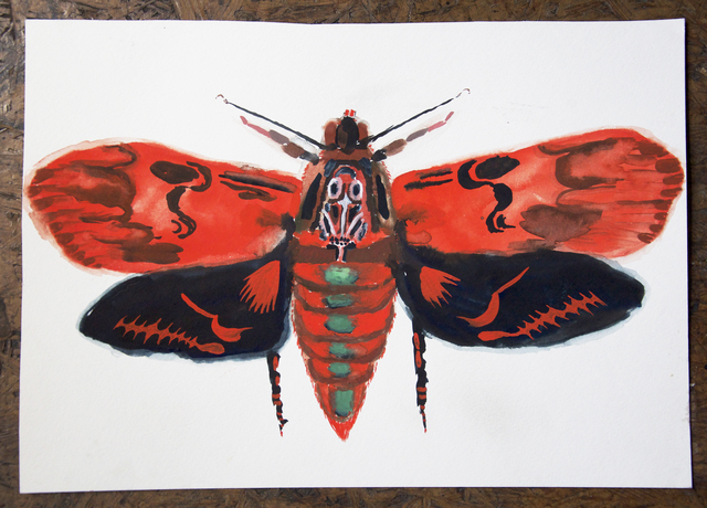 , 'Red Loch Bone Moth #4,' 2017, ZieherSmith