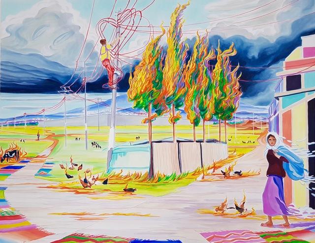 , 'Fire in Paradise,' 2018, Krobath