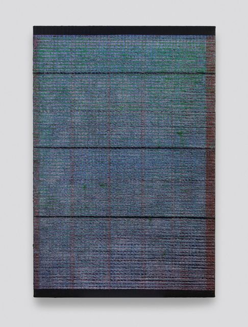 , 'Bisect-Gray, Green and Red,' 2019, Aye Gallery