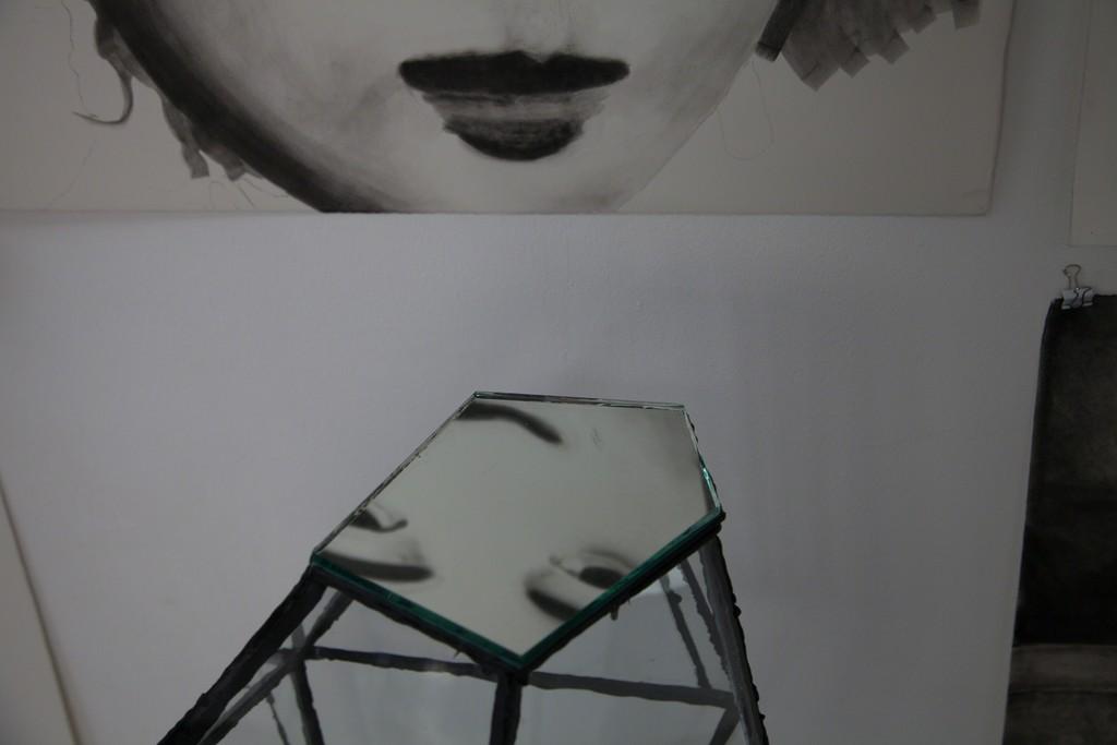 "exhibition view: ""Melancholia Transparent"" 2013 (detail) | Glas,Silikon 67cm h | image: ©dasesszimmer"
