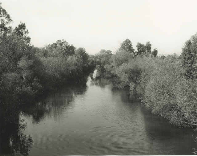 Mark Ruwedel, 'LA River View #2', 2017, Photography, Gelatin silver print dry-mounted to archival board, Gallery Luisotti
