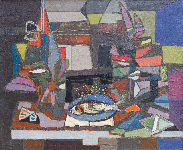 , 'Composition with Fish ,' ca. 1940, Ben Uri Gallery and Museum