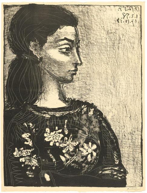 Pablo Picasso, 'Femme au corsage à fleurs', 1958, Koller Auctions