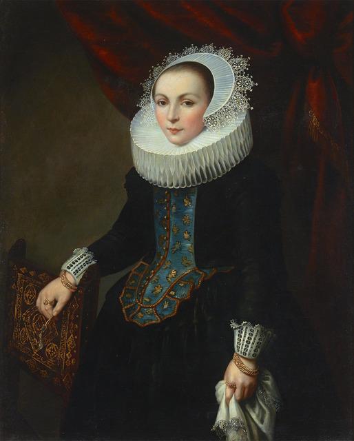 Dutch School, 'Portrait of a Lady', ca. 1820,  M.S. Rau