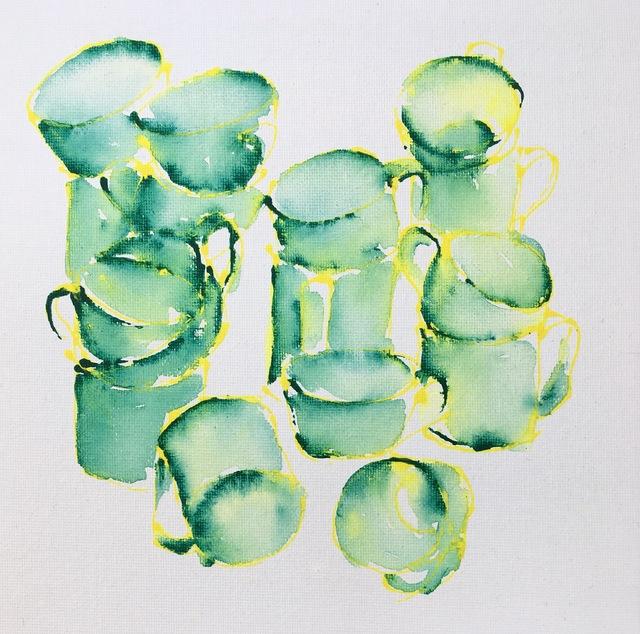, ''Green Study',' 2018, NoonPowell Fine Art
