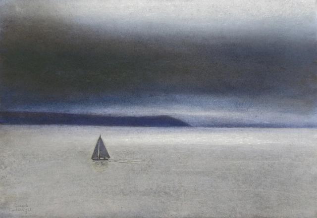 , 'Sailboat off the Antrim Coast,' 2016, John Martin Gallery