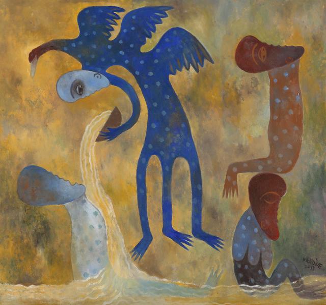 Manuel Mendive, 'Bano de Miel', 2014, Latin Art Core
