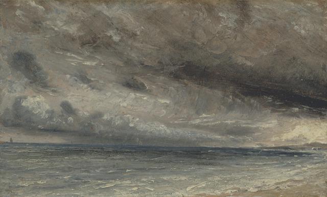 John Constable, 'Stormy Sea, Brighton', ca. 1828, Yale Center for British Art