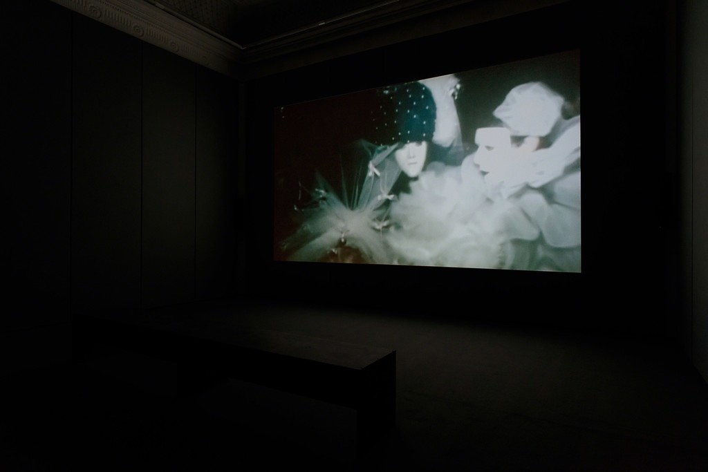 Installation view of James Richards: Requests and Antisongs