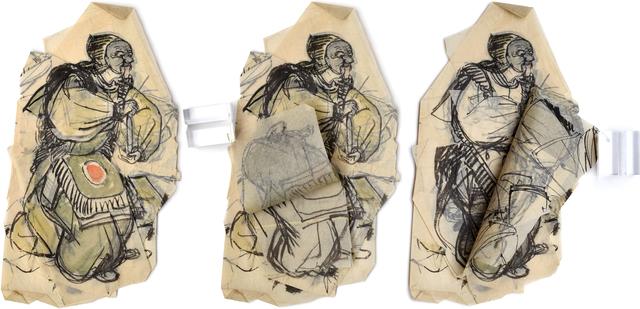 Unknown, 'Layered Sketch of Bugaku Performer', 20th century, Scholten Japanese Art