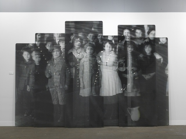 , 'Migrants, after Immigrant children, Ellis Island, New-York, courtesy of National Archives, glass panels, 2018,' 2018, Jeffrey Deitch