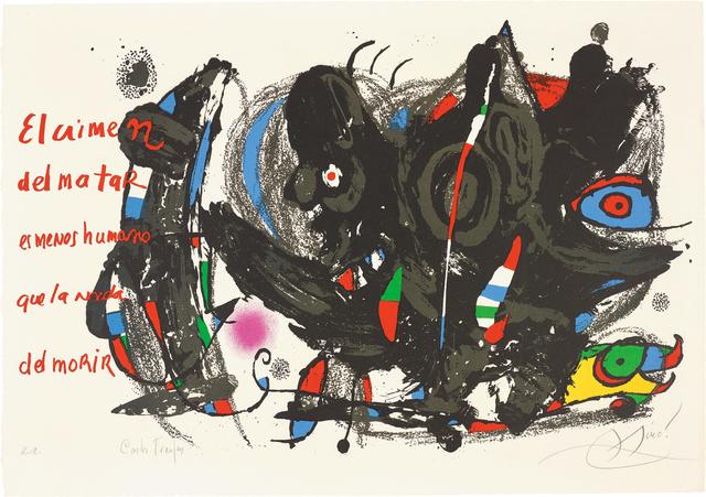 Joan Miró, 'Poemas para Mirar (Poems to Watch)', 1976, Phillips
