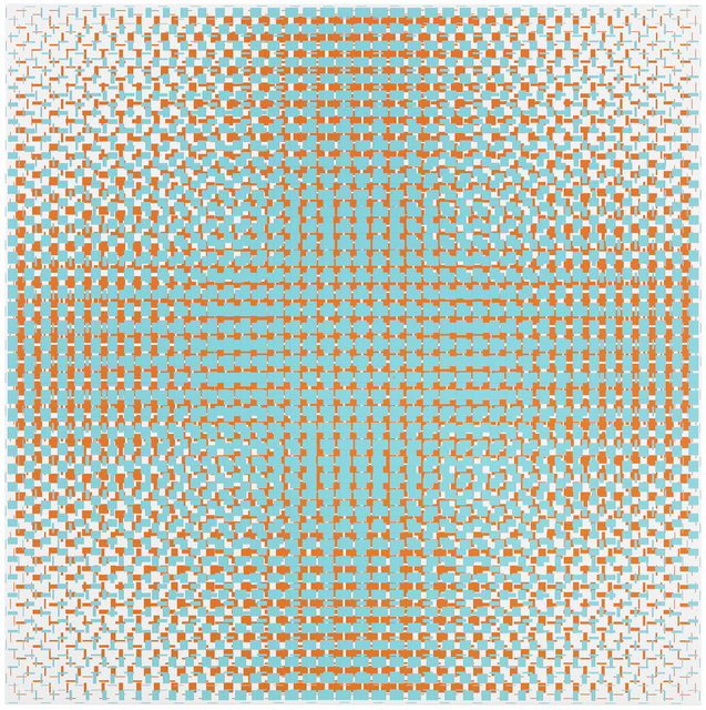 , 'turquoise-orange,' 2018, Galerie Denise René