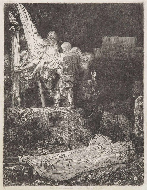 Rembrandt van Rijn, 'The Descent from the Cross by Torchlight', 1654, Christie's