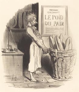 Honoré Daumier, 'Pour lors... nous... sommes dans le pétrin', 1840, National Gallery of Art, Washington, D.C.