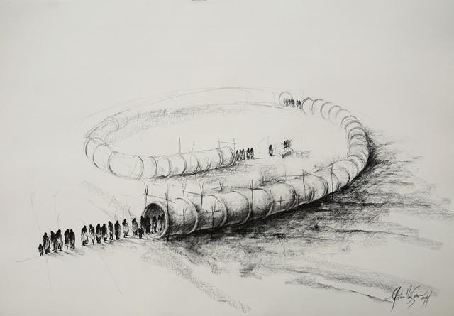 Gustavo Diaz Sosa, 'De burocratas y padrinos III', Drawing, Collage or other Work on Paper, Mixed media, Victor Lope Arte Contemporaneo