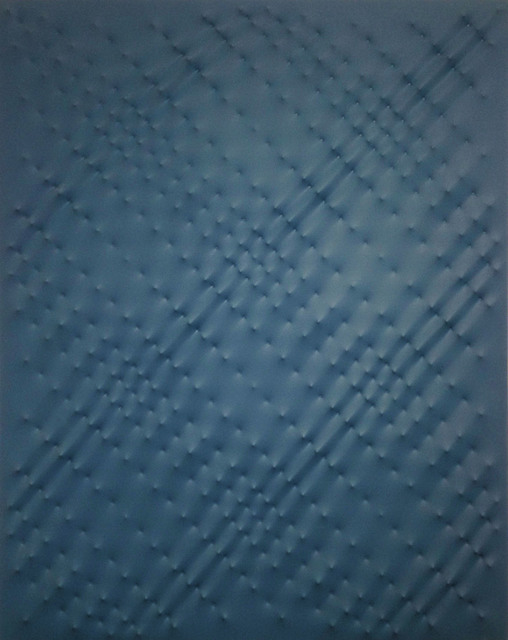 Enrico Castellani, 'superficie blu', 1989, Painting, Galleria Seno
