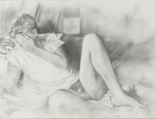 Rick Sindt, 'Hesitant', 2017, Drawing, Collage or other Work on Paper, Graphite and graphite powder on panel, Gallery Victor Armendariz