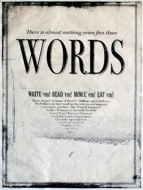 , 'Words,' 2010-14, The Schoolhouse Gallery