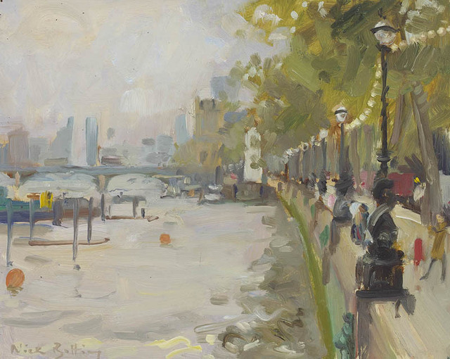 , 'First study for Autumn on The Embankment       ,' 2017, Portland Gallery