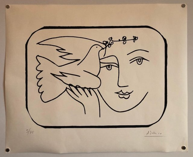 Pablo Picasso, 'Boy with Dove Limited Edition Screen Print or Lithograph', 20th Century, Lions Gallery