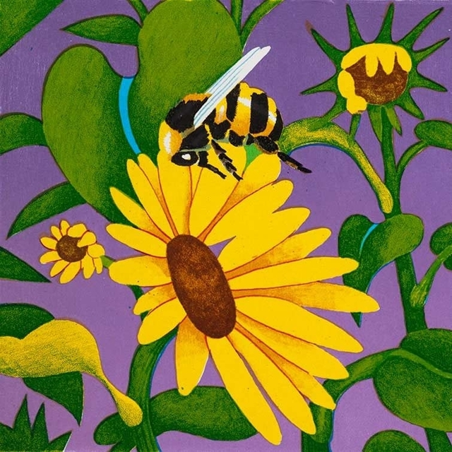 Billy Hassell, 'Bumble Bee & Wildflowers', Davis Gallery & Framing