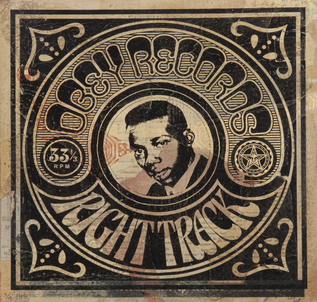 Shepard Fairey (OBEY), 'Obey Records Right Track', 2006, Julien's Auctions