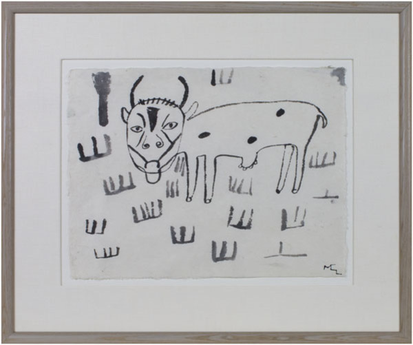 , 'Untitled (Cow Eating Grass) To be sold as pair only (9333g),' 1991, David Barnett Gallery