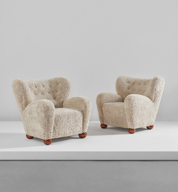 Marta Blomstedt, 'Pair of armchairs, designed for the Hotel Aulanko, Hämeenlinna, Finland', circa 1939, Phillips