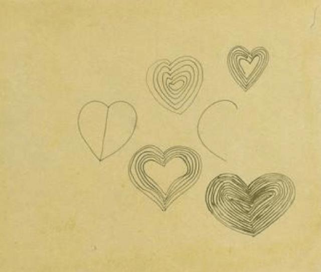 Frank Stella, 'Striped Hearts', 1960, Dean Borghi Fine Art