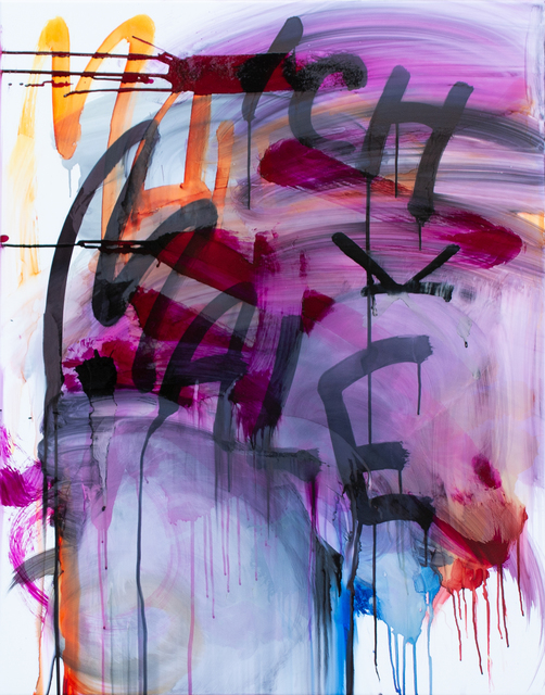 Thierry Furger, 'SCHRIFTENMALER 05', 2020, Painting, Ink and acid on white aluminium, KOLLY GALLERY