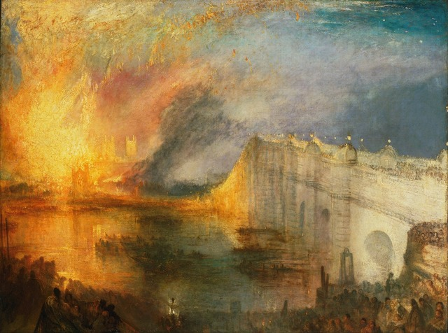, 'The Burning of the Houses of Lords and Commons, October 16, 1834,' 1834-1835, de Young Museum