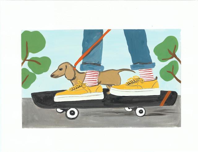, 'Can a Dachshund Skateboard?,' 2015, Gavlak