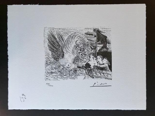 Pablo Picasso, 'Le monstre et les 4 enfants (Suite Vollard Planche XIII)', 1973, ByNewArt