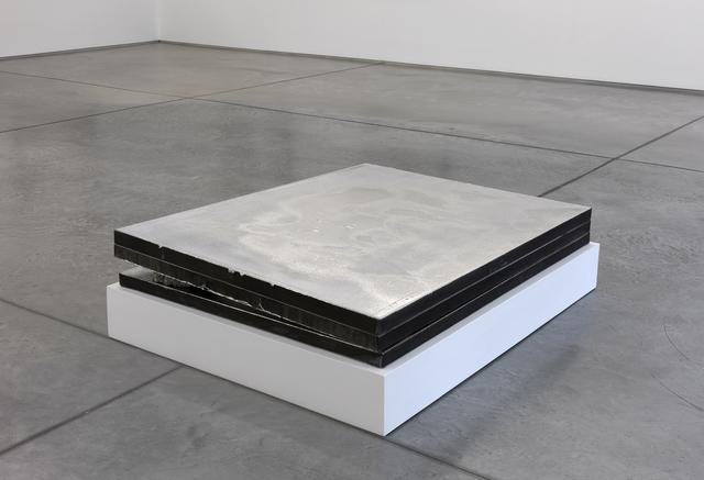 Jacob Kassay, 'Untitled', 2009, Painting, Acrylic and silver deposit on canvas, stone, Collezione Maramotti