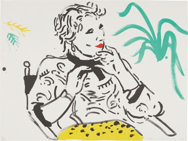 David Hockney, 'Celia with Green Plant', 1980, Phillips