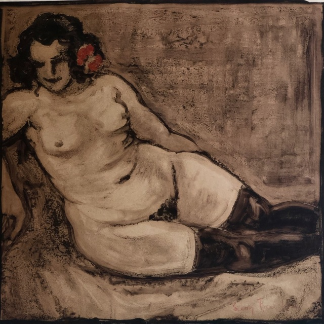 Léon Fauché, 'Nude with a Red Carnation (Hathilde).', ca. 1930, Theodore B. Donson Ltd.
